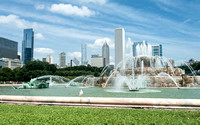 Chicago Cityscape with Fountain